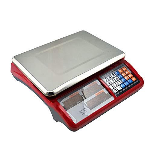 ZCY Bilancia da Cucina Elettronica - 30kg \\ 66lb Valutazione Impermeabile Elettronico Scala della Piattaforma Precisione Conteggio Frutta Verdure Pesatura Bilancia (Capacity : 40KG\\10G)
