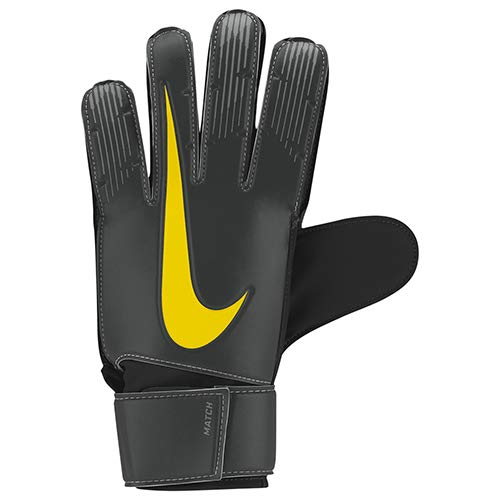 b3b6c237 Nike NK GK MATCH-FA18 Soccer Gloves, Unisex Adulto, Anthracite/Black/