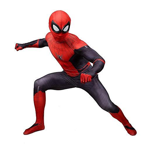 nder Spider-Man Spiel-Anim Halloween Kostüm Overall 3D Print Lycra Spiderman Cosplay Body,Adult-XXL ()