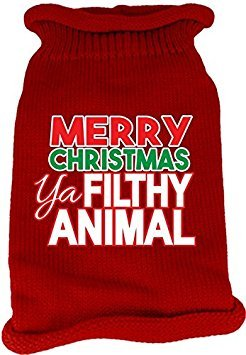 Animal-print Knit (Mirage Pet Products 621-16XXLRD Ya Filthy Animal Bildschirm Print Knit Rot Pet Pullover, Größe XXL)