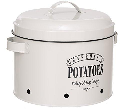 GranRosi Kartoffeltopf - geräumiger Behälter im 40er Jahre Vintage Design für eine stilvolle Kartoffel Aufbewahrung