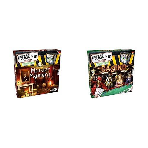 Noris 606101617 Escape Room Erweiterung Murder Mystery, nur mit dem Chrono Decoder spielbar &  606101641 Escape Room Erweiterung Casino, nur mit dem Chrono Decoder Spielbar