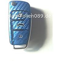Pellicola in fibra di carbonio/per chiave per Audi TT 8J A1 A3 8 P A4 A6 4F Q7 uvm.. S3/S4 B7. - A4 In Fibra Di Carbonio
