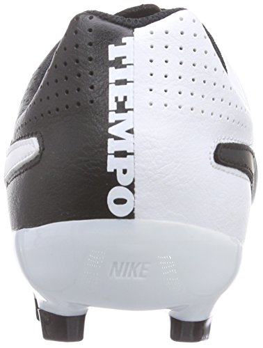 Nike Jr. Tiempo Genio Leather Mixte Enfant Chaussures de Football Noir/Blanc