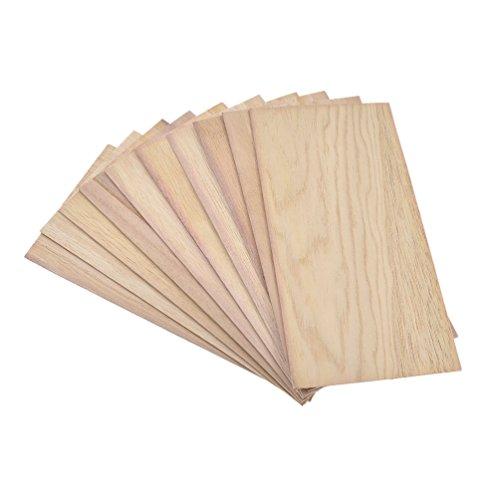 Hongma 10x 200x100mm 1.5mm Holzplatten für Garten Terrasse Balkon Massiv Zubehör DIY
