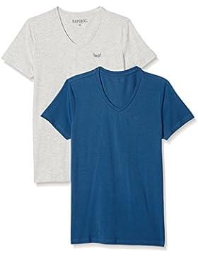 Kaporal GIFTE17M11, Lot de 2 camisetas para Hombre