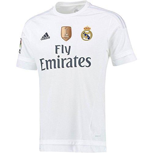 adidas Real H JSY YWC - Camiseta para niño, color blanco / gris, talla 140