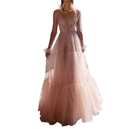 Sonojie Dress Frauen Sexy Showback Sexy Tiefes V Ärmelloses Neckless Kleid Langes Kleid - Batch Unit