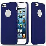Cadorabo Funda para Apple iPhone 5 / iPhone 5S / iPhone SE en Candy Azul Oscuro – Cubierta Proteccíon de Silicona TPU Delgada e Flexible con Antichoque – Gel Case Cover Carcasa Ligera