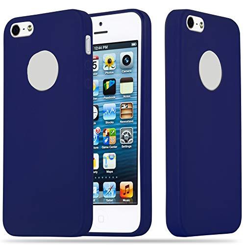 abce85b22d4 Cadorabo Funda para Apple iPhone 5 / iPhone 5S / iPhone SE en Candy Azul  Oscuro