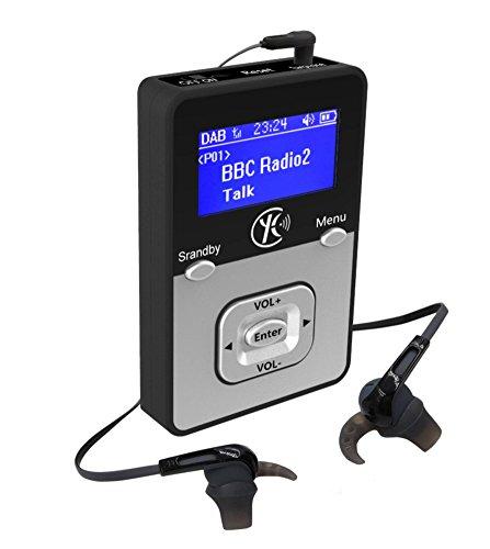 WalkRadio K1,DAB portable radio(klein, tragbar, für Outdoor geeignet),MP3 Player Portable (MP3 WAV .../Micro SD Card)-Akkus (bis zu 12 Stunden Spielzeit/Record Radio auf WAV) Personal Portable Pocket