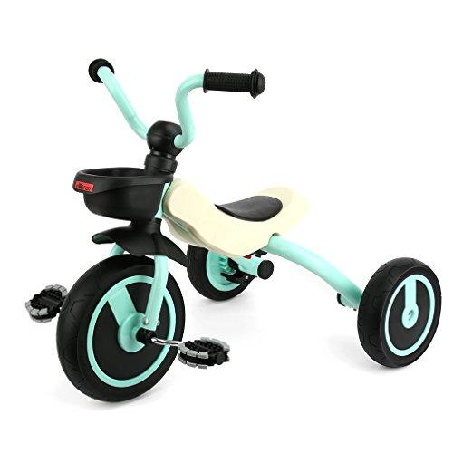 GOSFUN Triciclo para Niños con Función Plegable de 2 - 5 Años, Azul Claro (Tamaño del Cuerpo 90-120CM)