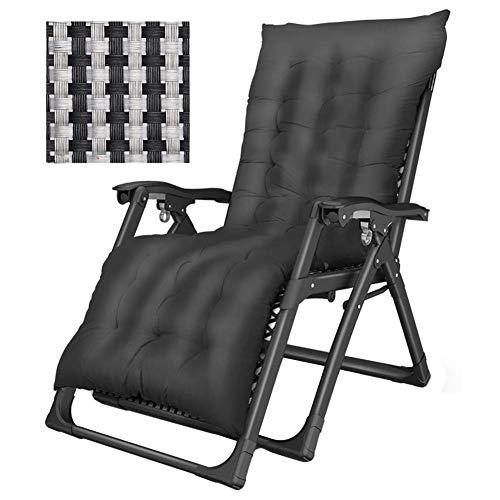 DASKHOME Patio-Liegestuhl Bequeme Patio-Stühle Sonnenstühle im Garten draußen Schwerelosigkeits-Klappstuhl-justierbarer stützender Klappstuhl Leichter Campingstuhl