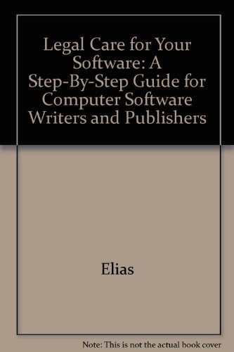 Title: Legal care for your software A stepbystep guide fo