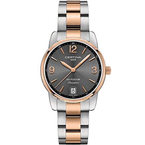 CERTINA WOMEN'S DS PODIUM 33MM STEEL CASE QUARTZ WATCH C034.210.22.087.00