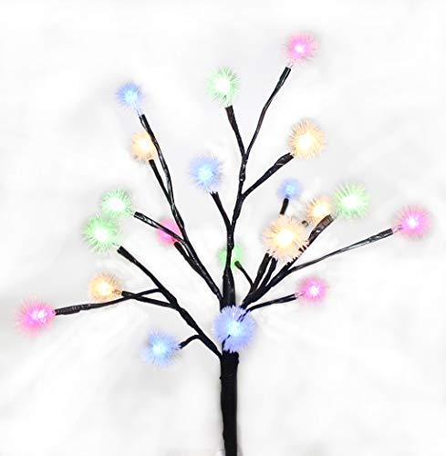 Dekoratives Schneeflockelicht im Freien des Farblichtsolarbaumlichtes (Anlage-therapie)