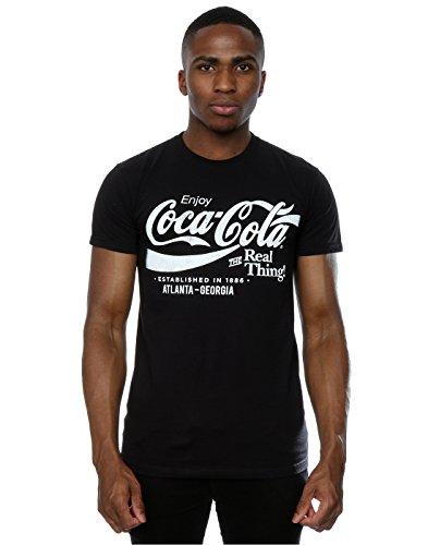 Preisvergleich Produktbild Coca Cola Herren Atlanta Georgia T-Shirt X-Large Schwarz