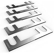Auprotec® fusibile a nastro 30A - 150A fusibili stripe selezione: 50A Ampere, 5 pezzi - Fusibile Nastro