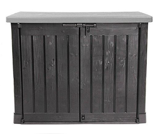 *Keter Store It Out Max Gartenbox Mülltonnenbox Gerätebox Schuppen für 2 x 240 Liter Mülltonnen (Anthrazit Grau)*