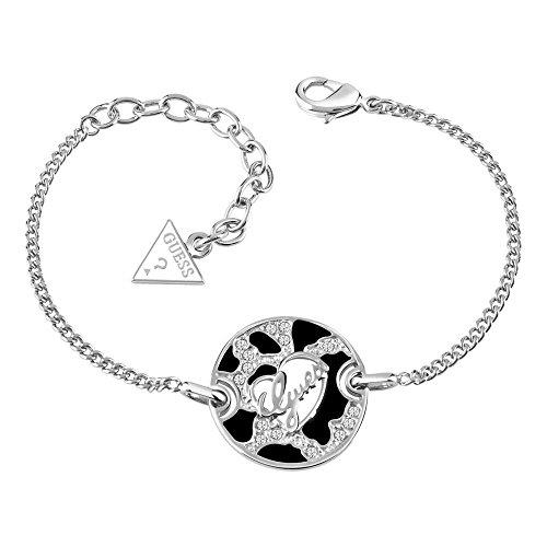 Guess Damen-Armband Adventure Edelstahl Kristall weiß 20 cm-UBB61061-S