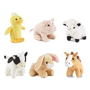 Living Nature Nature-AMZ05FM Miniature Buddies Soft Toys, Pack de 6 Animales, Keycraft AMZ05FM