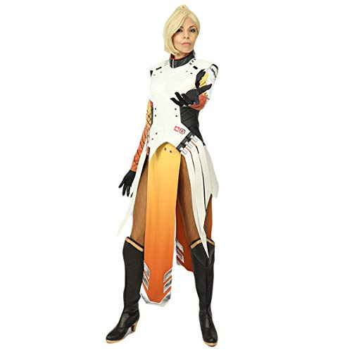 Soldier Winter Der Kostüm Cosplay - Pandacos Mercy Kostüm 7er Set Damen Costume Deluxe Uniform Game Zubehör für Halloween, Karneval und Fasching