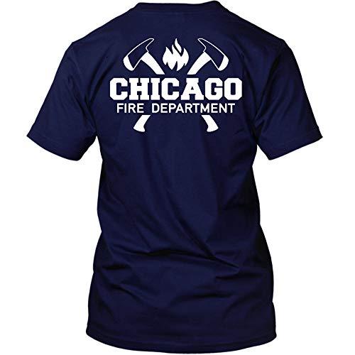 T-Shirt mit Logo und Axt-Motiv (L, Navy) ()