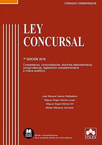 Ley Concursal: Comentarios, concordancias, doctrina administrativa, jurisprudencia, legislación complementaria e índice analítico (Código Comentado) por José Manuel Suárez Robledano
