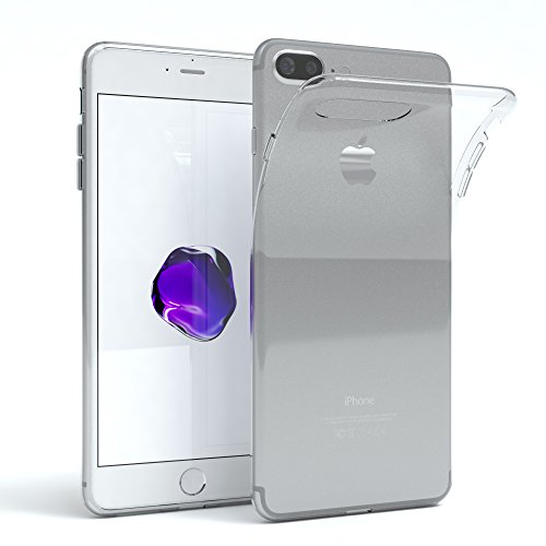 "iPhone 8+ Hülle / iPhone 7+ Hülle - EAZY CASE Premium ""CLEAR"" Slimcover Handyhülle für Apple iPhone 7 Plus & iPhone 8 Plus - Transparente Schutzhülle als Smartphone Cover in Transparent Transparent"