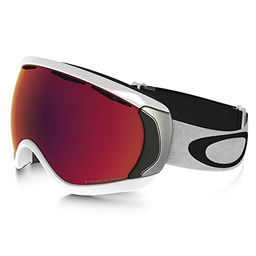 Oakley Men's Canopy (A) Snow Goggles, Matte White, Prizm Torch Iridium, Large