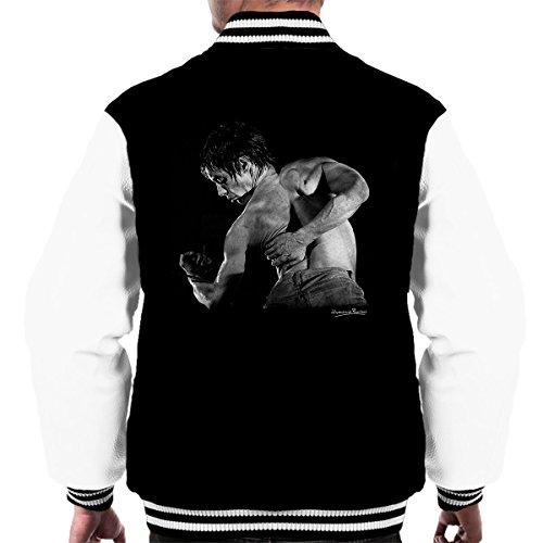 Iggy Pop Back Manchester Apollo 1977 Men's Varsity Jacket Black/White