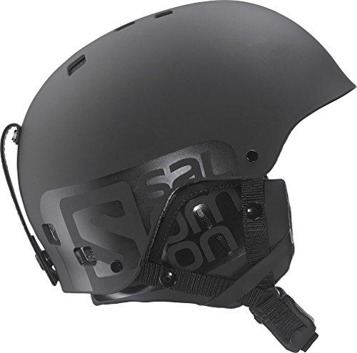 Salomon L36843300 Casco per Adulti, Unisex, Sci e snowboard, Park and Pipe, ABS iniettati + Fodera EPS, Circonferenza 59.5-60.5 cm, BRIGADE, Grigio/Verde, Taglia XL