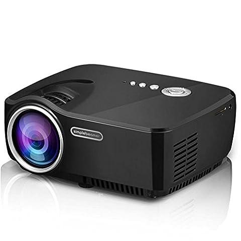 Mini HD Vidéo Projecteur LED LCD Pico Film Projecteur 1200