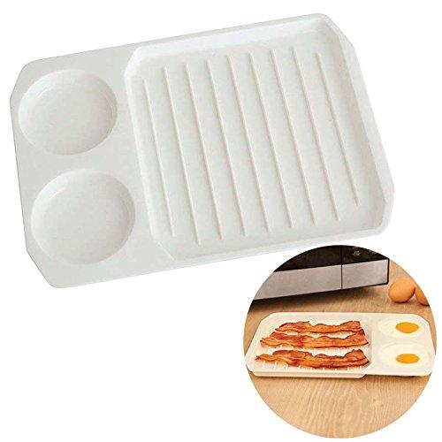 Rokoo 2 in 1 Mikrowellenküche Bacon Egg Backform für Frühstück Küche Küchenutensilien