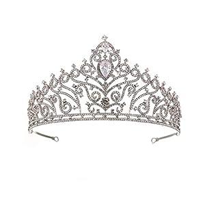 SONGpai Damen Luxus Kristall-Tiara GläNzende Strass-Krone FüR Hochzeit Brautschmuck