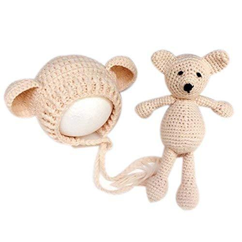 Häkel-Kostüm für Babys, Mütze mit (Kleines Baby Teddy Bär Kostüm)