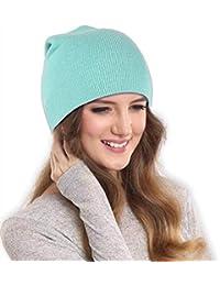 DRUNKEN Women's Slouchy Soft Woollen Winter Beanie Skull Cap Light Blue Free_Size