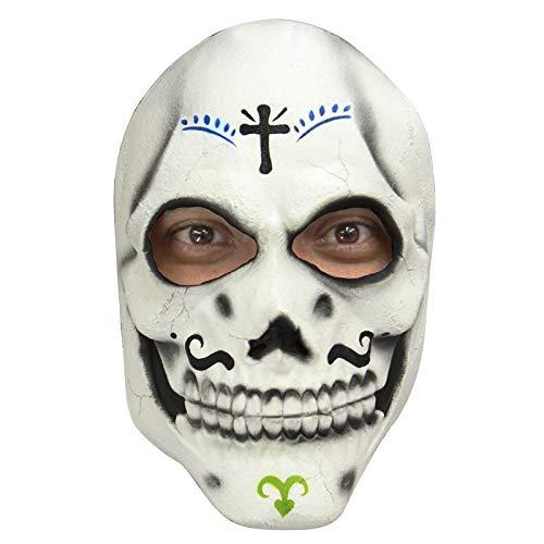 Generique - Skelette Maske Dìa de Los Muertos für Erwachsene - Hand Bemalt