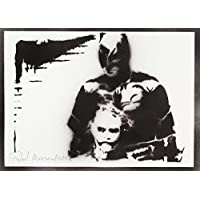 Poster Batman E Joker Handmade Graffiti Street Art - Artwork