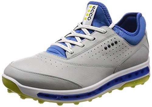 ECCO Herren M Golf COOL PRO Golfschuhe, Grau (Concrete/Kiwi 50758), 43 EU Gore Tex Golf