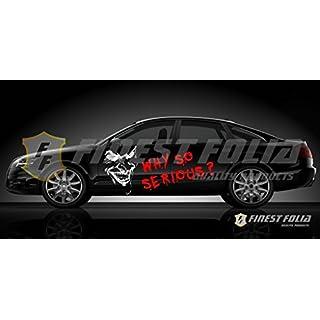 Joker Batman Aufkleber von Finest-Folia weiß/rot Sticker Autoaufkleber Folie Carbon Matt Tuning