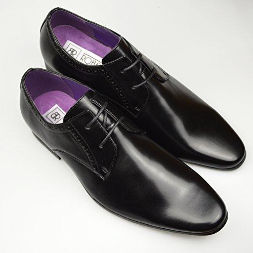 Fashion braun Herren Leder Schuhe offiziellen Smart, Gr. 6, 7, 8, 9, 10, 11 Schwarz 2