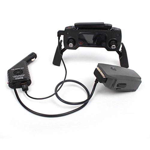 Xshuai Hohe Qualität 2 in 1 USB Auto Ladegerät Fernbedienung Ladegerät Für DJI Mavic Pro Drone (Schwarz) (Fernbedienung Holster)
