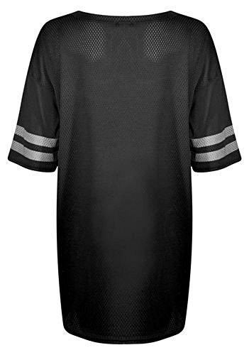 Fast Fashion - Bouffant Top Brooklyn 96 Résille Baseball De Fac Oversize - Femmes Noir
