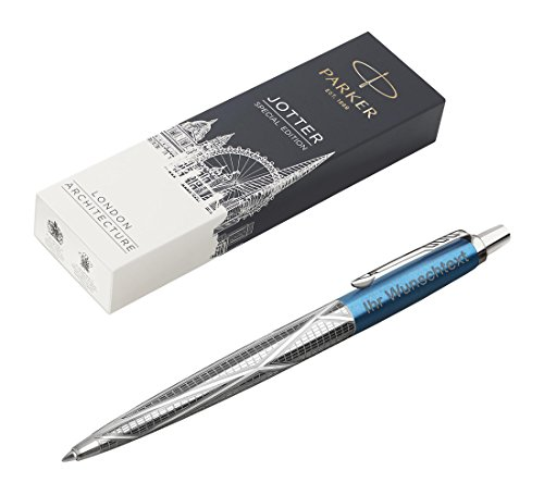 Parker Jotter Special Edition, Skyblue Modern, in acciaio inox, con incisione laser