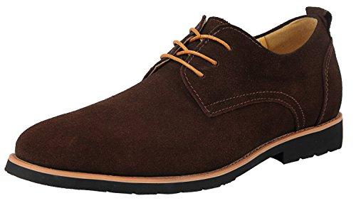 Oxfords Schuhe Braun Herrenschuhe Schnürhalbschuhe Komfort Walk Derby Classic Mokassins 41 EU - US 8.5 - Sportliche Wildleder-mokassins