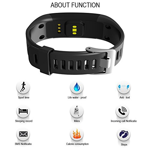 OPTA SW-023 Black Bluetooth Heart Rate sensor Smart Band and fitness tracker for Android/IOS Mobile Phones compatible with Samsung IPhone HTC Moto Intex Vivo Mi One Plus and many others! Launch Offer!!