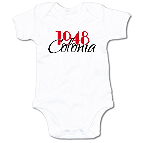 G-graphics 1948 Colonia Baby Body Suit Strampler 250.0270 (0-3 Monate, weiß)