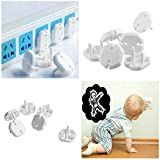 DIYEUWORLDL 10pcs/Set Anti Electric Shock Plugs Protector Cover EU Power Socket Electrical Outlet Baby Kids Child Safety Guard Protection