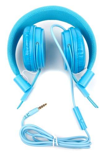 Blauer Kinder-Kopfhörer von DURAGADGET - größeneinstellbar, leicht zu verstauen und mit integriertem Mikrofon - für Loco Gadgets Kids 7